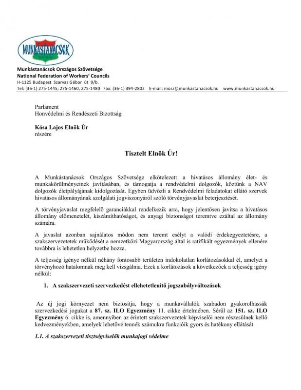 szakszervezeti jogok javaslat HOB1