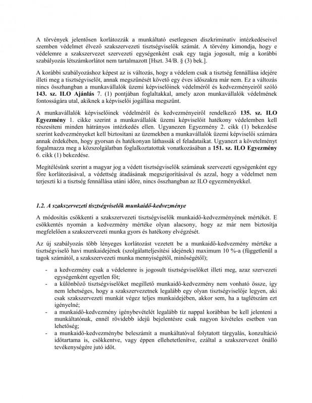 szakszervezeti jogok javaslat HOB2