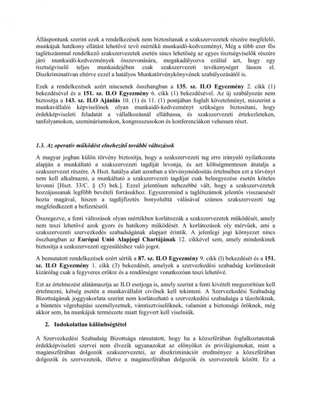 szakszervezeti jogok javaslat HOB3