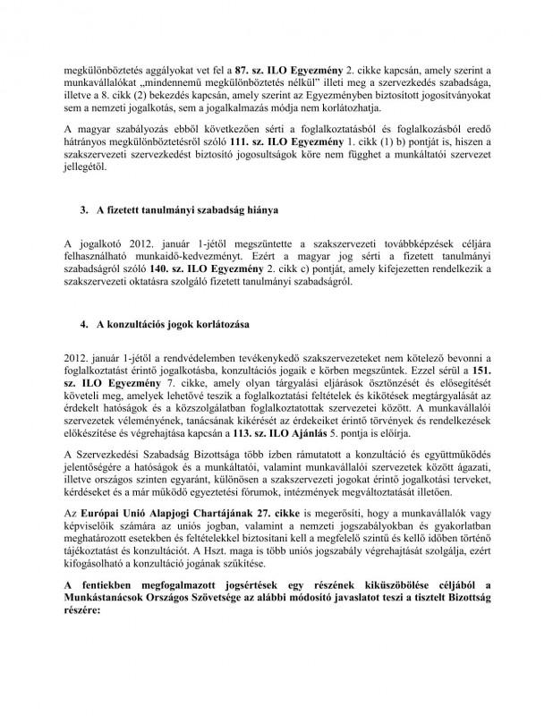 szakszervezeti jogok javaslat HOB4