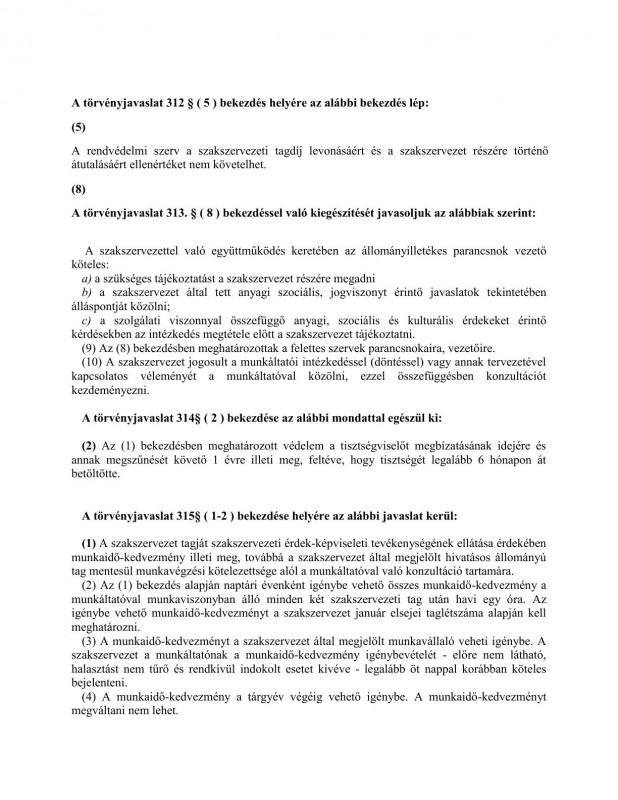 szakszervezeti jogok javaslat HOB5